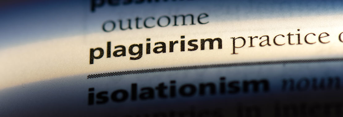 Image of the word plagiarism