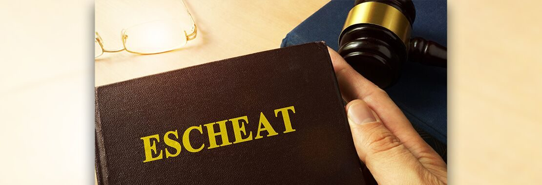 the word escheat on a book